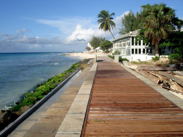 Barbados south coast boardwalk
