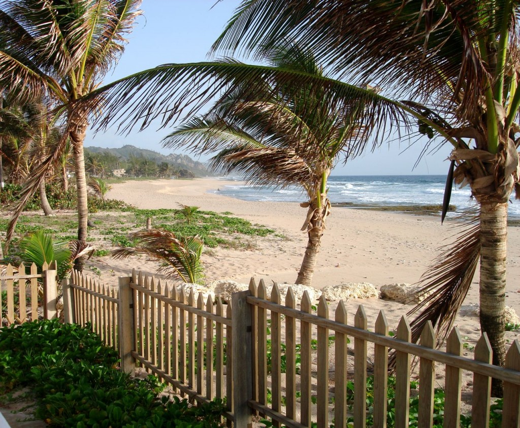 One of the old-time holiday homes along the Bathsheba coastline.
