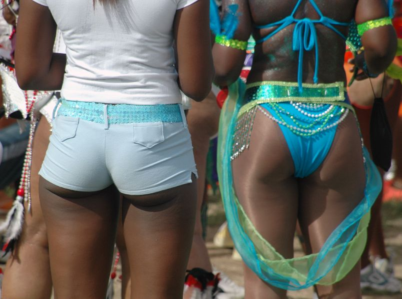 Gorgeous Bajan butts at last year's Crop Over.