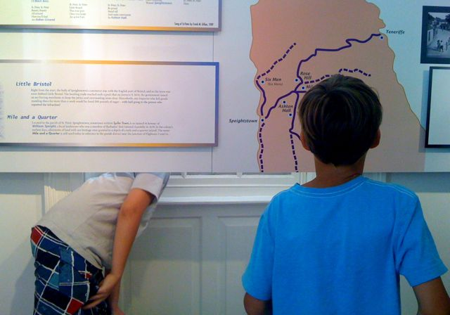 Greg's grandsons loved the interactive exhibits at Arlington House. Yes, they got up to a bit of mischief, too :)