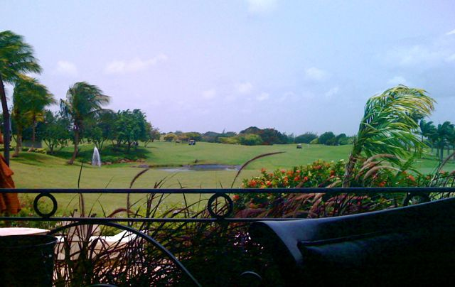Lunch at Royal Westmoreland. The camera on my iPhone really doesn't do the beautiful setting justice.
