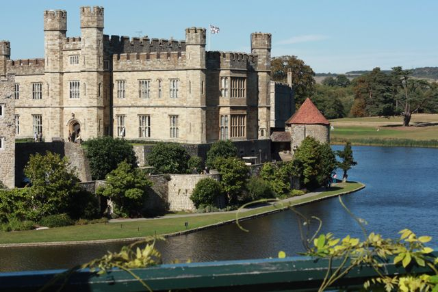 Leeds Castle, in Kent in the southeast of England