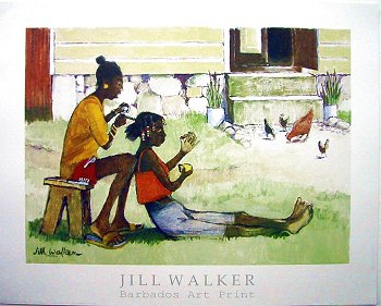 A thief with good taste: One of two Jill Walker framed prints that were taken from my Barbados rental apartment.