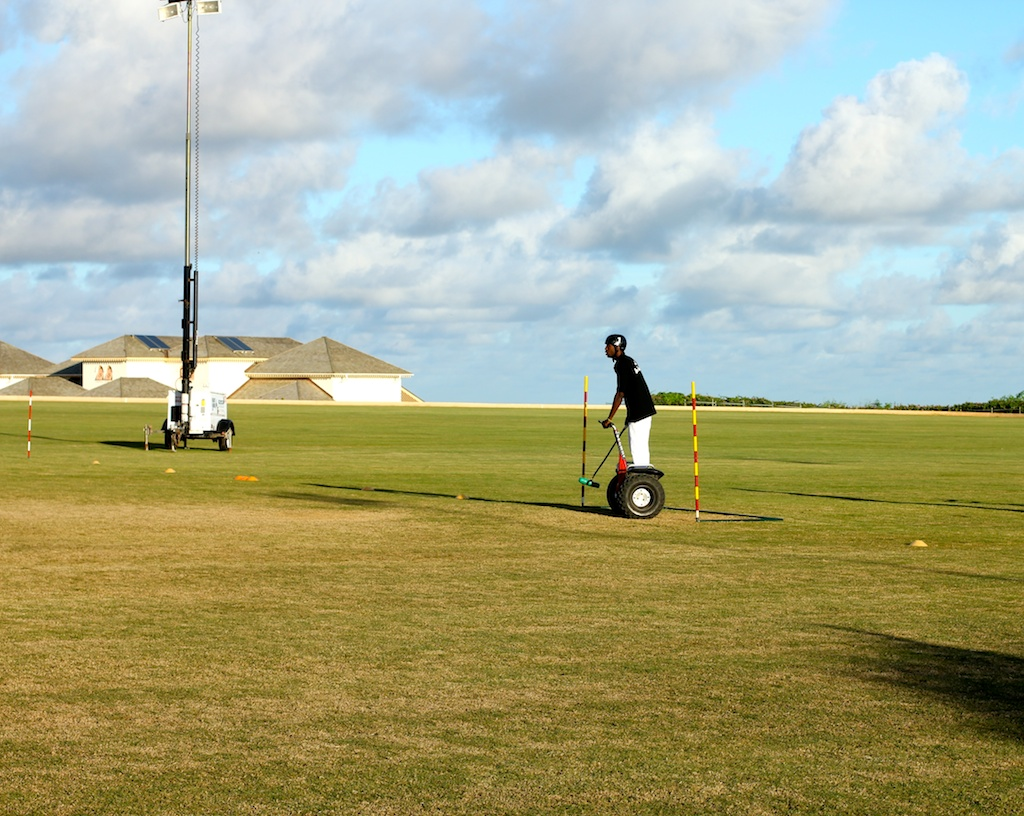 Segway polo Barbados: the goalie
