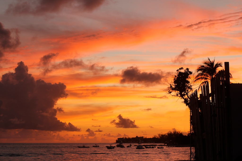 Sunset in St Lawrence Gap, Barbados