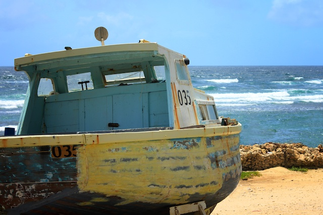 Barbados fishing boat