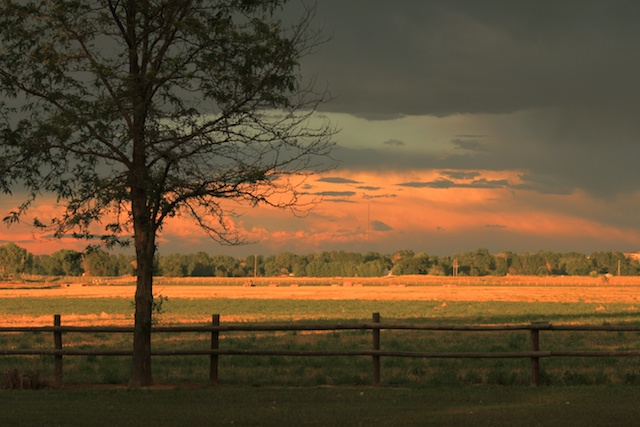 Sunset over the farm, Lafayette, Colorado