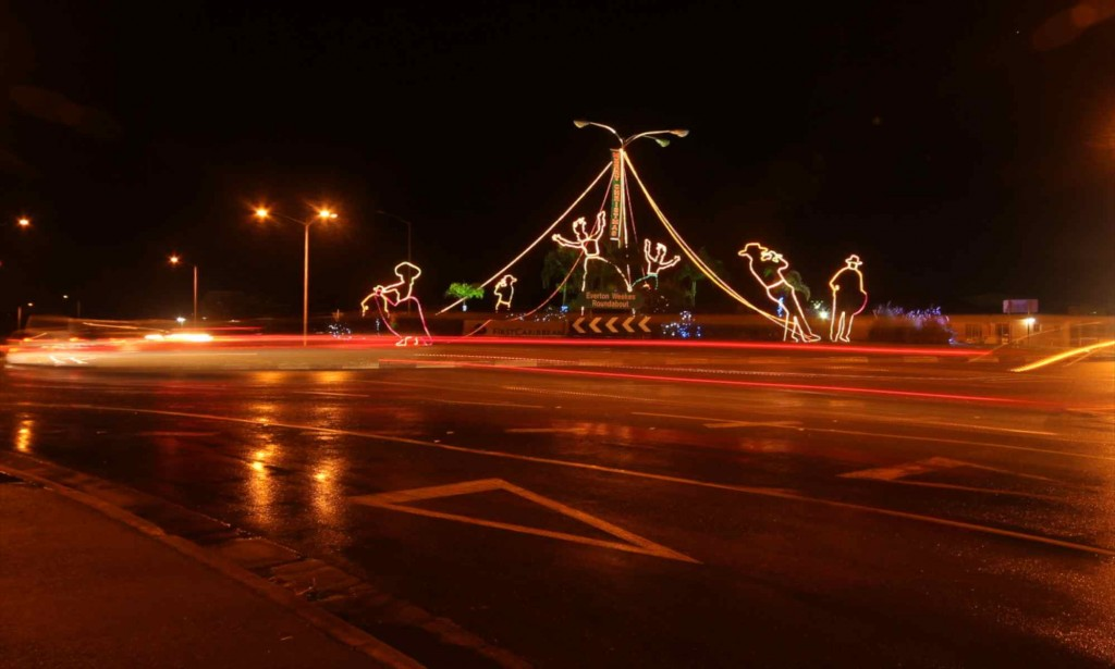 Barbados roundabout at Christmas
