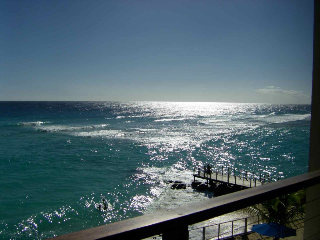 View from St Lawrence Beach Condos in Barbados